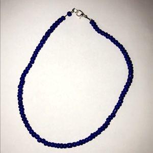 Cobalt blue beaded choker!! Buy two for $14!